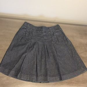 INC pleated denim skirt